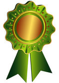 Bronze Award with green ribbon — Stock Vector