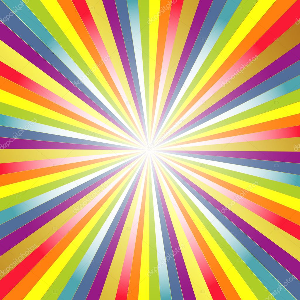 Starburst Background Vector Abstract rainbow background