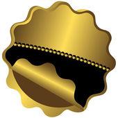 Golden and black award — Stock Vector