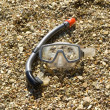 Stock Photo: Mask and snorkel