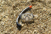 Mask and snorkel — Stock Photo