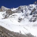 Glacier moraine — Stock Photo