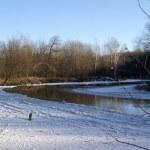 Frozen river — Stock Photo