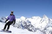 Happy snowboarder — Stock Photo