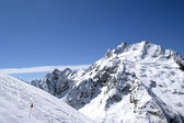 Ski slope in Dombay. Caucasus — Stock Photo