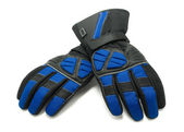 Pair of winter ski gloves — Stock Photo