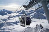 Ski lift. Caucasus. Elbrus — Stock Photo