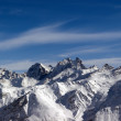 Panoramic view from Elbrus - Stock Photo
