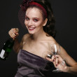 New year party with champagne — Stockfoto