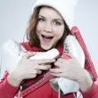 Ice-skater girl — Stock Photo