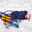 Child in snow — Stock Photo