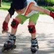 Royalty-Free Stock Photo: Rollerblading. Falling down.