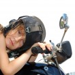 Child biker - Stock Photo