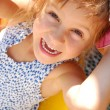 Happy smiling little girl outdoor — Stock Photo #1006897