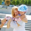 Family fun rollerblading — Stock Photo #1006931