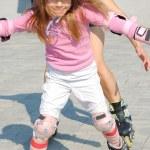 Inline rollerblade child — Stock Photo