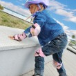 Child on in-line skates — Stock Photo