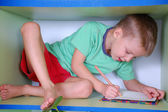 Studying boy — Stockfoto