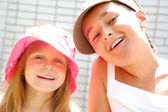 Summer smiling kids — Stock Photo