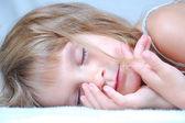 Sleeping little girl — Stock Photo