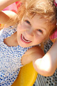 Happy smiling little girl outdoor — Stock Photo