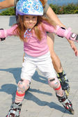 Inline rollerblade child — Stock Photo