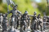 Tin toy figures — Stock Photo