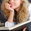 Beautiful girl with a book — Stock Photo #1013635