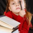 Little girl with books — Stock Photo #1184468