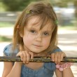Foto de Stock  : Swingn around little girl