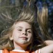 Long hair little girl — Stock Photo