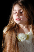 Retrato de uma menina de 5 anos — Foto Stock