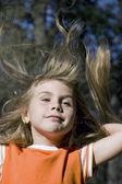 Long hair little girl — Stock Photo