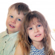 Children friends couple isolated — Stock Photo