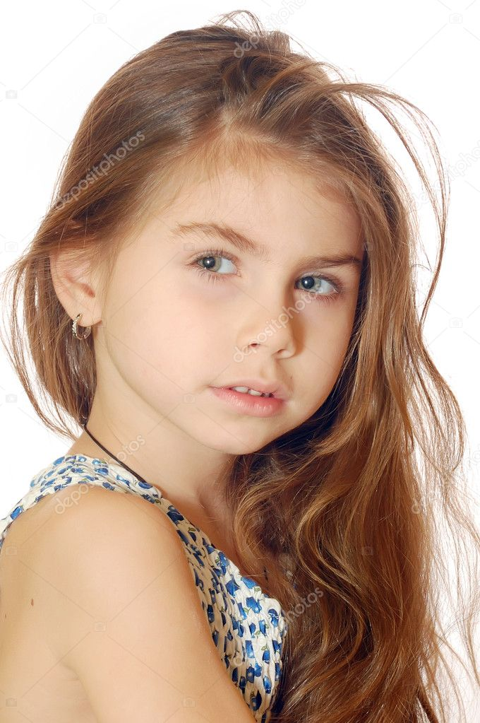 Portrait of a 5 year old girl  — Stock Photo #1276453
