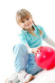 Active kid with a ball — Stock Photo