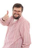 Happy big mid-adult man — Stock Photo