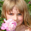 Foto de Stock  : Child and flower