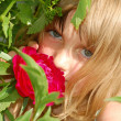Stockfoto: Summer flower and girl