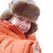 Happy child wearing winter clothing — Stock Photo #1401733