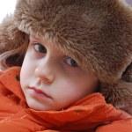 Girl wearing winter clothing — Stock Photo