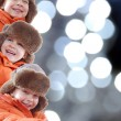 Royalty-Free Stock Photo: Happy winter kids