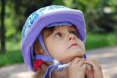 Child with helmet — Stock Photo