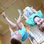 Playing sporty kids — Stock Photo