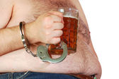 Chained to beer — Stock Photo