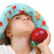 Child with an apple — Stock Photo