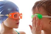 Swimming team — Stock Photo