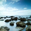Sleeping sea under the blue sky - Stock Photo