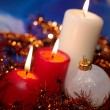 Christmas still life with candles and ga — Foto Stock #1007388