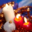 Christmas still life with candles. Soft — Stock Photo #1007476